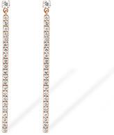 Messika Gatsby Barrette Pink Gold Linear Diamond Pendant Earrings