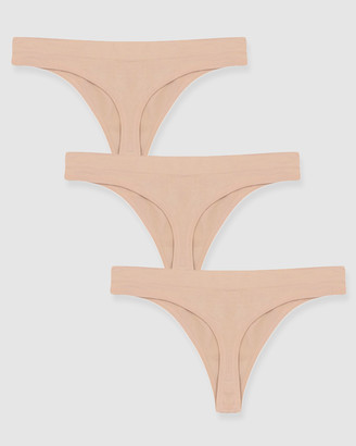 B Free Intimate Apparel Thong - No Panty Lines - 3 Pack