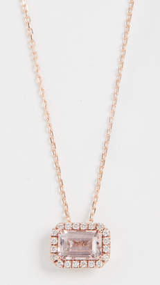 Suzanne Kalan Kalan by 14k Rose Gold Emerald Cut Necklace