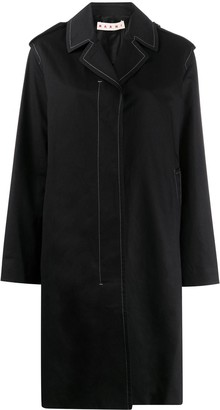Marni Contrast-Stitch Trench Coat