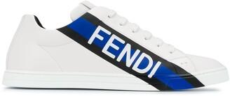 Fendi Low-Top Logo Print Sneakers