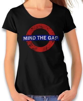 Shirtminister Mind The Gap Vintage Women's T-Shirt Many Colours S-XXL - Black - XX-Large