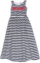 Moschino Striped Cotton Poplin Long Dress