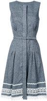 Oscar de la Renta belted dress with detailed hem - women - Silk/Linen/Flax - 4