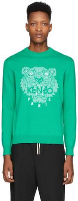 Kenzo Green Tiger Head Sweatshirt