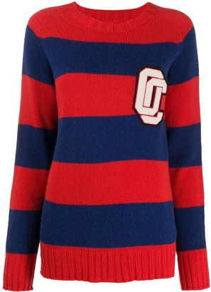 Opening Ceremony OC patch striped jumper