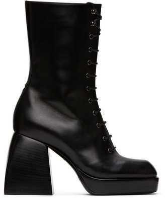 Nodaleto Black Bulla Lace-Up Boots