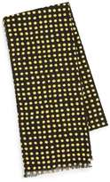 Topman Black and Yellow Polka Dot Dress Scarf