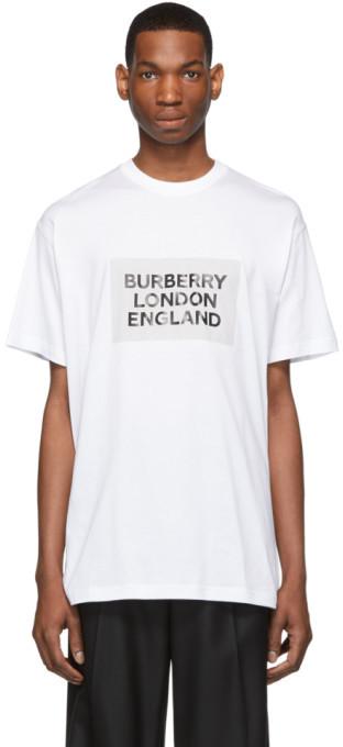 Burberry White London England T-Shirt