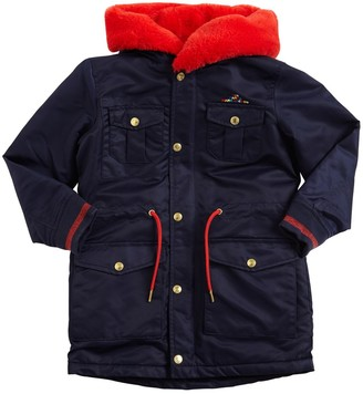 Little Marc Jacobs Hooded Nylon Satin Parka Coat