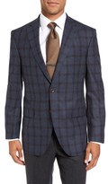 David Donahue 'Connor' Classic Fit Plaid Wool & Cashmere Sport Coat
