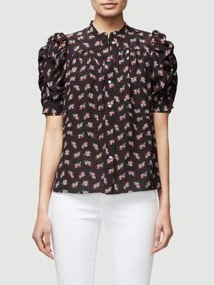 Frame Smocked Sleeve Yoke Shirt