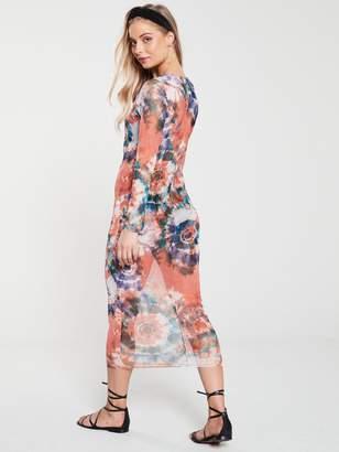 Very Multi Tie Dye Cover Up Dress - Blue