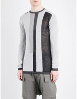 Rick Owens Panelled Semi-sheer Cotton Top