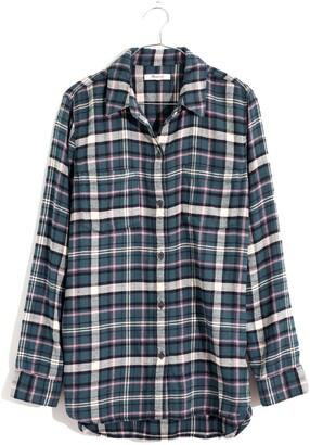 Madewell Baywood Plaid Flannel Classic Ex Boyfriend Shirt