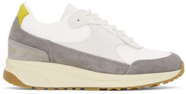 Common Projects Woman By Woman by Grey New Track Sneakers