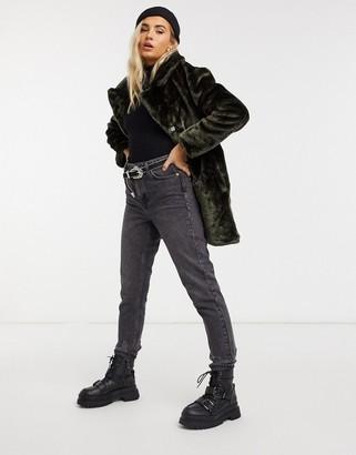 Brave Soul tamsin faux fur coat