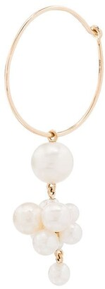 Sophie Bille Brahe 14kt yellow gold Botticelli pearl hoop single earring
