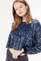 Urban Outfitters UO Faux Fur Peplum Top