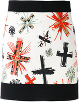 Fausto Puglisi graphic cross print skirt - women - Spandex/Elastane/Viscose - 40