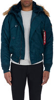 Alpha Industries MEN'S N-2B HOODED INSULATED BOMBER JACKET