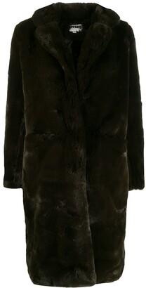 Apparis Faux-Fur Midi Coat