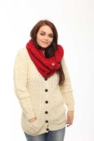 Carraigdonn Carraig Donn 100% Merino Wool Snood Scarf With Buttons