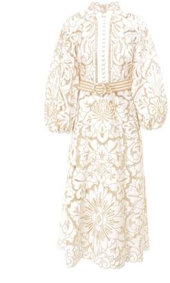 Zimmermann Embroidered Midi Dress