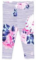 Joules Navy Floral Stripe Leggings