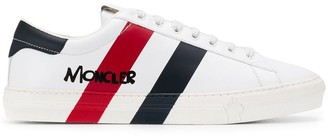 Moncler Striped Lo-Top Sneakers