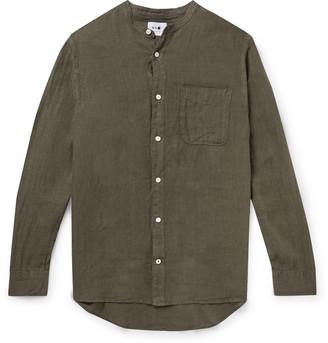 NN07 Justin Grandad-Collar Linen Shirt