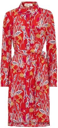 Diane von Furstenberg Prita floral silk crepe minidress