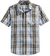 Sean John Men's Short-Sleeve Plaid Shirt