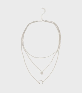 New Look Layered Disc Pendant Necklace
