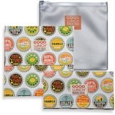 SugarBooger by o.r.e Good Lunch Set of 3 Snack Sack in Bottle Cap