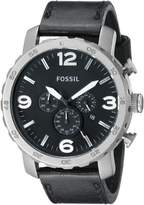 Fossil Men's Nate TI1005 Leather Quartz Watch