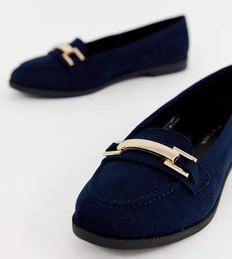 New Look stitch loafer in navy