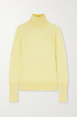 Victoria Beckham Silk Turtleneck Top - Pastel yellow