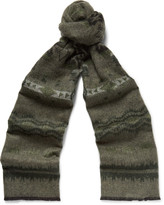 Valentino - Printed Double-faced Knitted Scarf