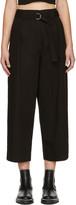 Alexander Wang Black Paperbag Waist Trousers