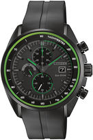 Citizen Drive from Eco-Drive HTM Mens Black Silicone Strap Chronograph Watch CA0595-11E
