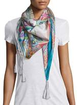 Johnny Was Ajamite Floral-Print Silk Scarf