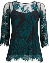 Teal Lace Shell Top