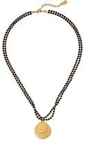 "Lauren Ralph Lauren Modern Landscape 18"" 2 Row Small Bead Pendant Necklace"