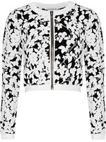 Milly Midnight Cropped Jacquard-Knit Jacket