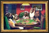 Camilla And Marc Generic C.M. Coolidge (Bold Bluff, Dogs Playing Poker) Framed Art Poster Print - 24 X 36