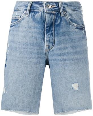 AllSaints Knee Length Denim Shorts