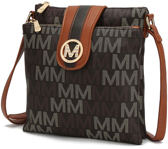 MKF Collection by Mia K. Women's Crossbodies Brown - Brown Rodina Crossbody Bag