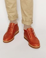 Fred Perry Southall Leather Boots - Brown