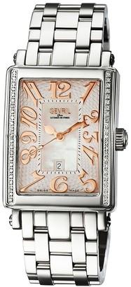 Gevril Mezzo Mother-Of-Pearl Stainless Steel Bracelet Watch